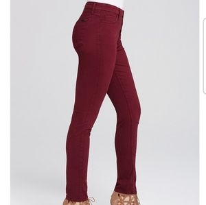 Jen 7 by 7 For All Mankind Burgundy Skinny